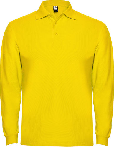 Polo homme | Manches longues | PO6635 | jaune