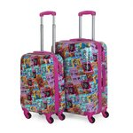 Suitcase set | Trolleys set | Kukuxumusu | 130700 fuchsia