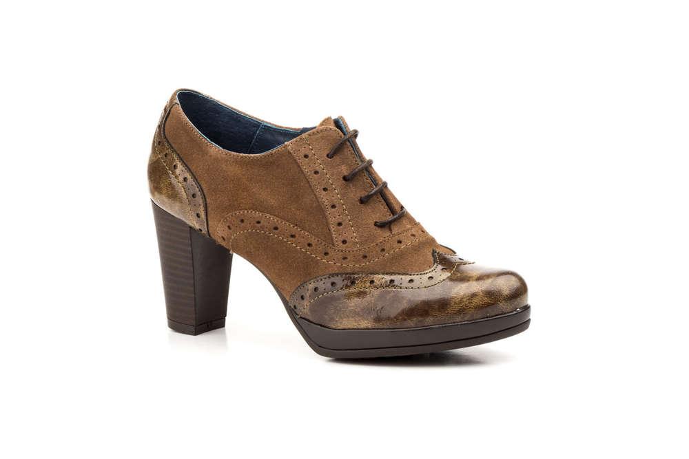 Zapato Damen Keilsandaletten Leder Braun