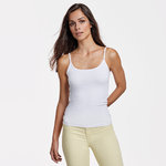 Women's thin tank top | White color | CA6552