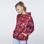 Windbreaker Woman | London CV5100 | Floral garnet 191