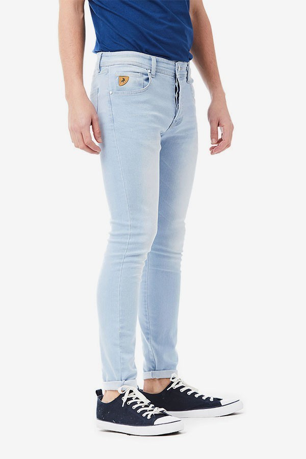 Pantalon Vaquero Pitillo Hombre Lois C51s2330m11148 Lavado Claro