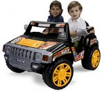 "Juguetes eléctricos niños | Injusa | Coche ""Two Evasion"" 12 V Negro Pick Up"