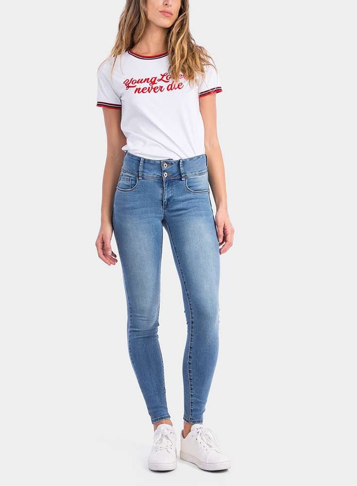 Push Mujer slim 10023667 Tiffosi Jeans Doble Up PIq1wFPxa