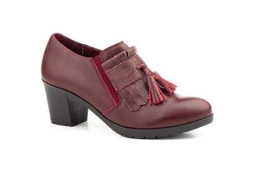 Leather Woman Shoes | MX-924 Bordeaux |