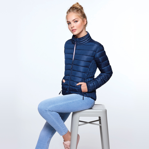 Women's padded jacket | Electric blue color | (RA5095)
