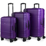 Malas | Set Trolleys | Jaslen | 73100-03 roxo