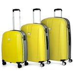 Maletas | Set Trolleys | Jaslen | 56500-08 amarillo / plata
