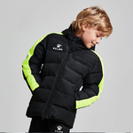 Parka jacket | Kelme | Junior | New Street | black / neon yellow