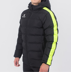 Parka jacket | Kelme | Senior | New Street | black / neon yellow