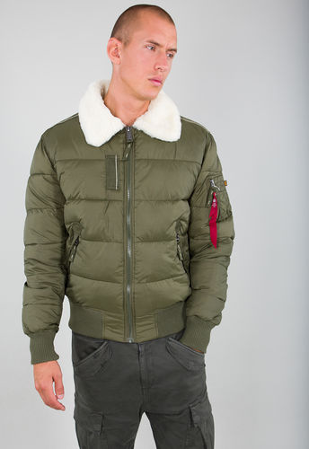 Alpha Industries Flight Jacket | Injektor III Puffer FD | 257 mørkegrønn