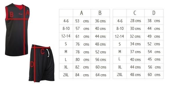 Asioka | Conjunto deportivo Baloncesto | 59/13 rojo/negro