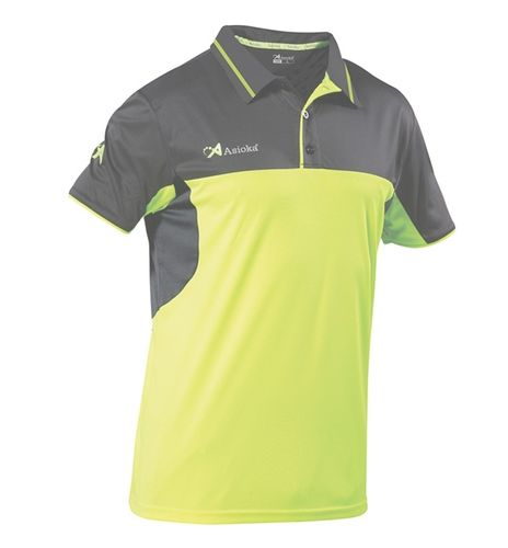 Asioka | Women's short-sleeved polo shirt | Ref. 109/19 lime / black