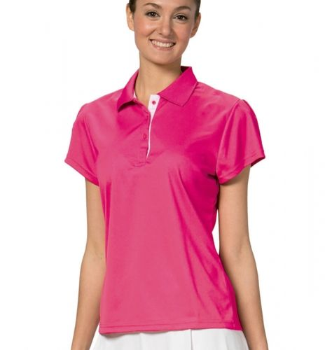 Asioka | Women's short-sleeved polo shirt | Ref. 102/14 fuchsia