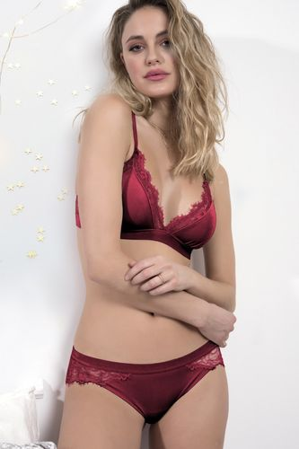 Women's interior set | Velvet Top and Panties | Red