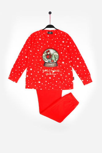 Pijama Niña Santoro |  You Turn My World Upside Down  54431-0 | rojo