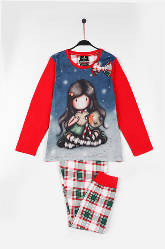 Girl Santoro Pajamas | My Christmas 54444-0 | Red