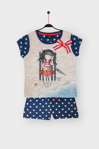 Girl Santoro Pajamas | Summer Days 54446-0 | Marine