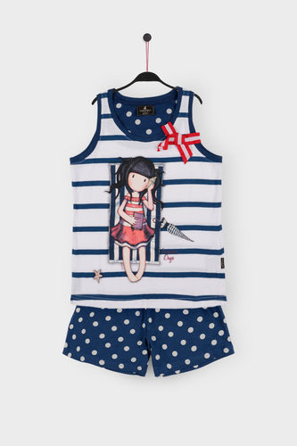 Girl Santoro Pajamas | Summer Days 54448-0 | Marine