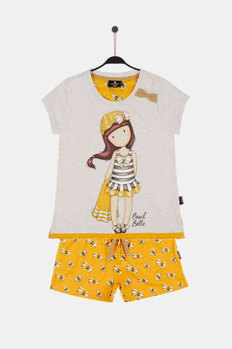 Girl Santoro Pajamas | Beach Belle 54460-0 | mustard