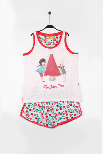 Girl Santoro Pajamas | Juice Tree 54471-0 | White