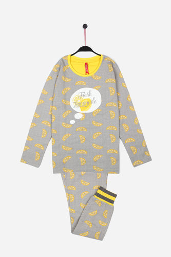 Girl Pajamas | Lemon 54136-0 | Gray