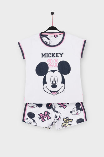 Disney Girl's Pajamas | Mickey 28 54392-0 | White