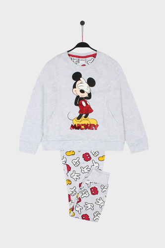 Disney Girl's Pajamas | Mickey Icon 54395-0 | jasper gray