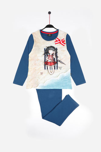 Girl Santoro Pajamas | Summer Days 54480-0 | Marine