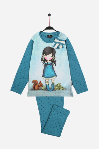 Girl Santoro Pajamas | Bow You Brought Me Love 54408-0 | blue