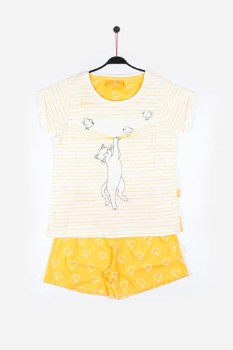 Girl Santoro Pajamas | Cat In The Act 54484-0 | mustard