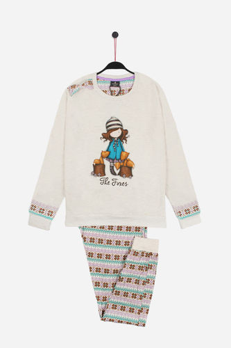 Girl Santoro Pajamas | Plush The Boxes 54412-0 | beige