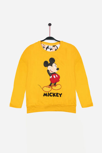 Disney Girl T-shirt | Mickey 56077-33 | mustard