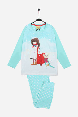 Girl Santoro Pajamas | Kori Kumi Warm Wishes 54416-0 | blue