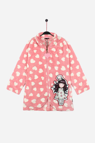 Santoro Girl Dressing Gown | Love Heart 57319-0 | raspberry