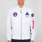 Jaqueta de vol Alpha Industries | MA-1 TT Hood NASA | 09 blanc