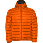 Padded jacket Man | Vermilion orange color | (RA5090)