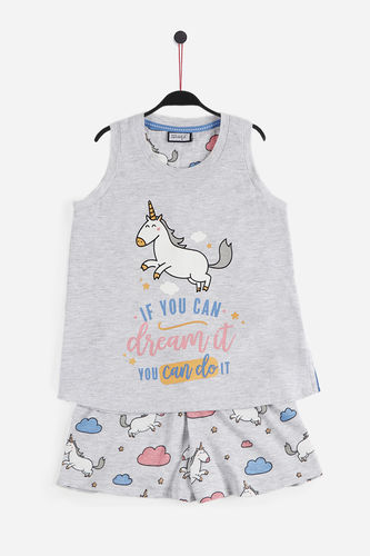 M Wonderful | Summer girl pajamas | Unicorn Suspenders | 55738-0